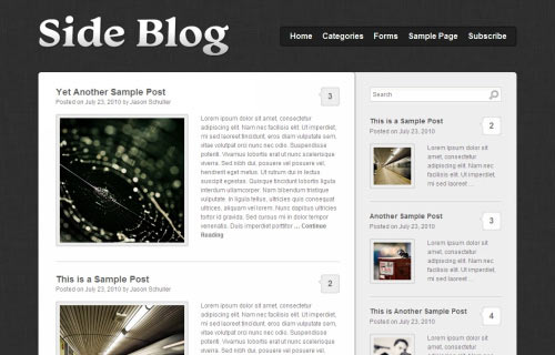 The Side Blog Theme