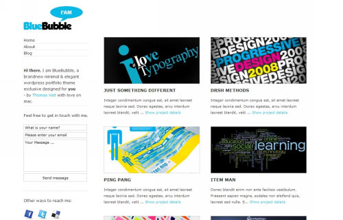 BlueBubble WordPress Theme