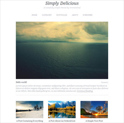 tema wordpress Simply Delicious