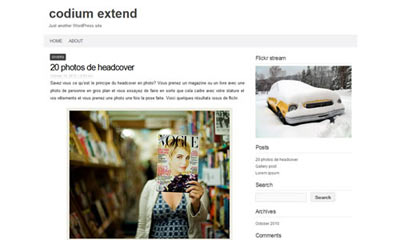 tema wordpress Codium Extend