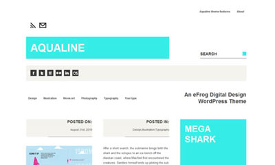 tema wordpress Aqualine