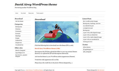 tema wordpress David Airey Theme