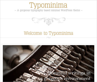 tema wordpress Typominima