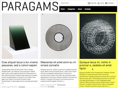 tema wordpress Paragams