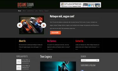tema wordpress Distant Dawn