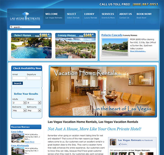 Las Vegas Retreats - Sites em Joomla