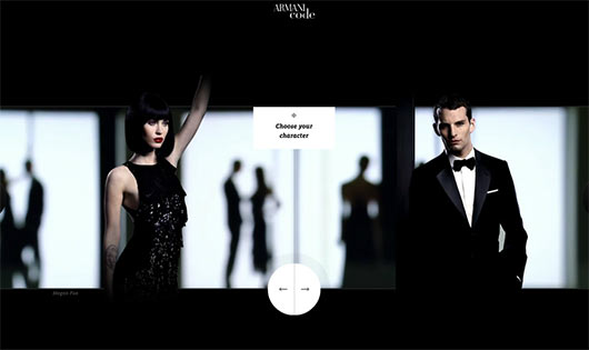 Armani Code - Sites feitos em Flash