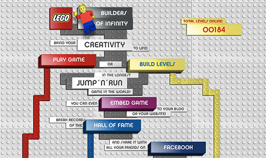 LEGO Builders of Infinity - Sites feitos em Flash