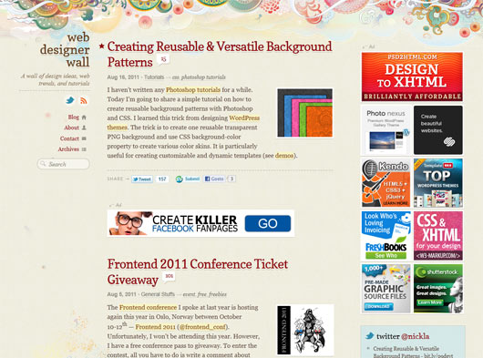 Web Designer Wall - Sites em WordPress