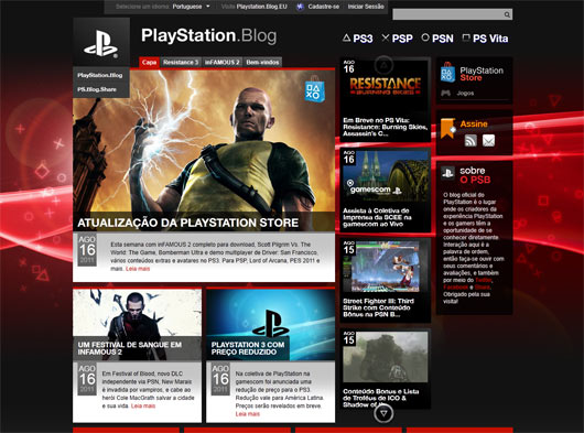 Playstation Blog - Sites em WordPress