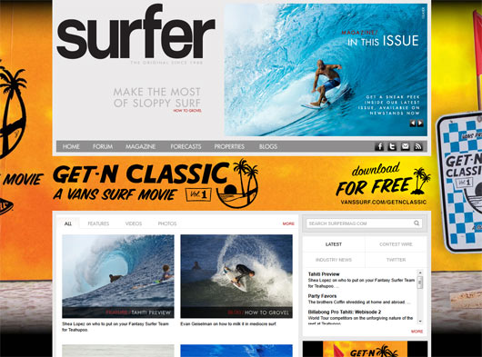 SURFER Magazine - Sites em WordPress