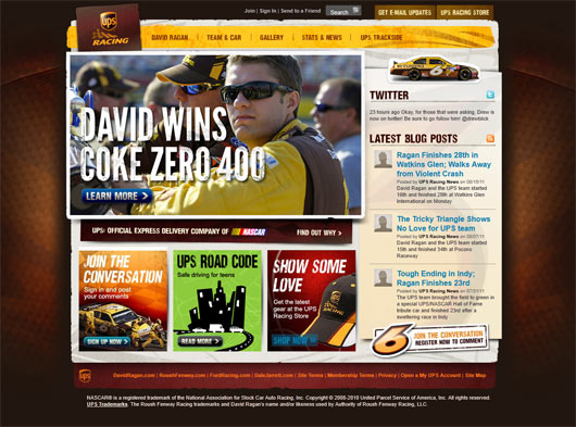 UPS Racing - Sites em WordPress