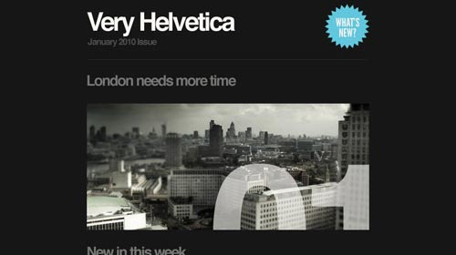 Template Email Marketing - Helvetica
