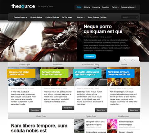 TheSource - Template WordPress Profissional