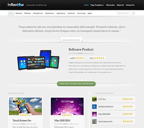 InReview - Template WordPress Profissional