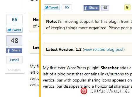 Sharebar - Plugin WordPress