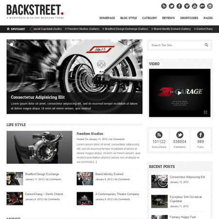 Backstreet - Blog and Magazine Theme