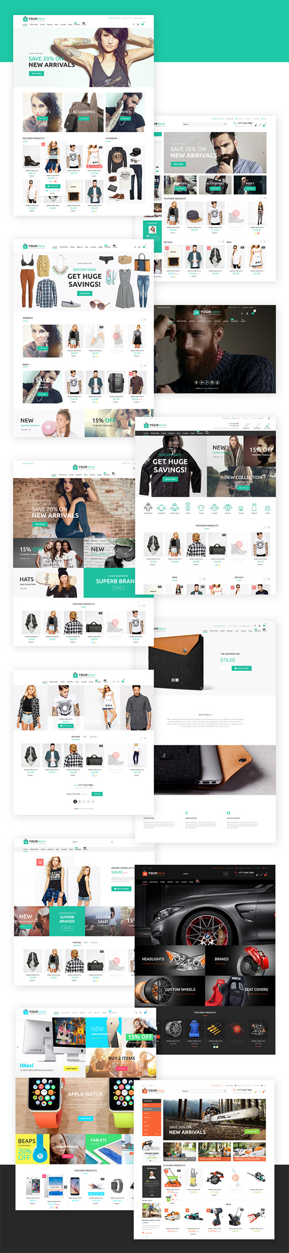 Tema WordPress YourStore - Woocommerce theme